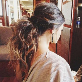 Easy Hair Ideas Messy Ponytail