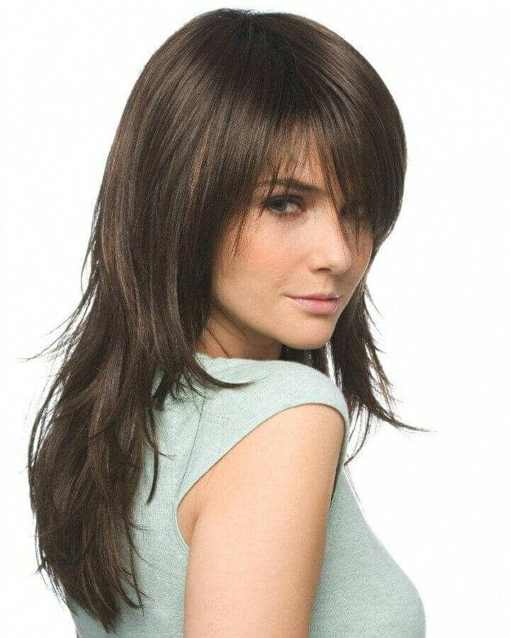 Hairstyles with Fringes Layered Fringe Kudu Hair Extensions
