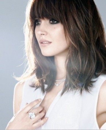 Hairstyles with Fringes Long Bob with Fringe Kudu Hair Extensions