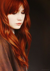 Hair Colour Ideas Coppery Hair Look